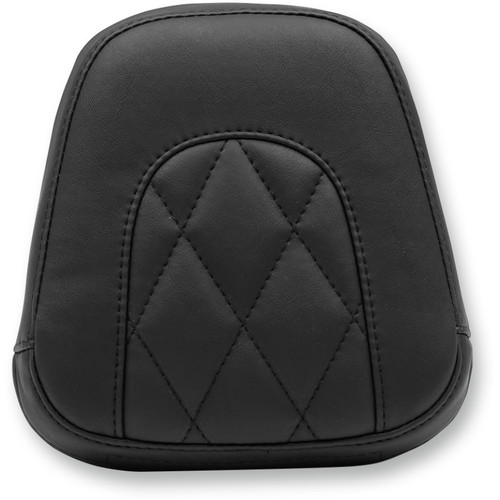 Mustang Diamond Small Sissy Bar Pad for Harley Softail Slim and Blackline - Black