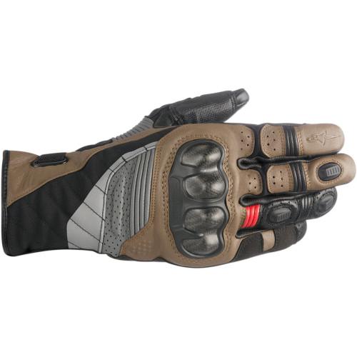 Alpinestars Belize Drystar Gloves - Black/Tobacco Brown/Red