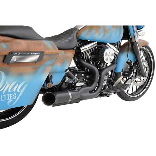 Python Rayzer 2-Into-1 Exhaust for 2007-2016 Harley Touring - Black