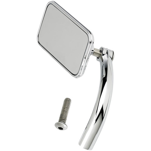 Biltwell Utility Mirror Rectangle Perch Mount - Chrome