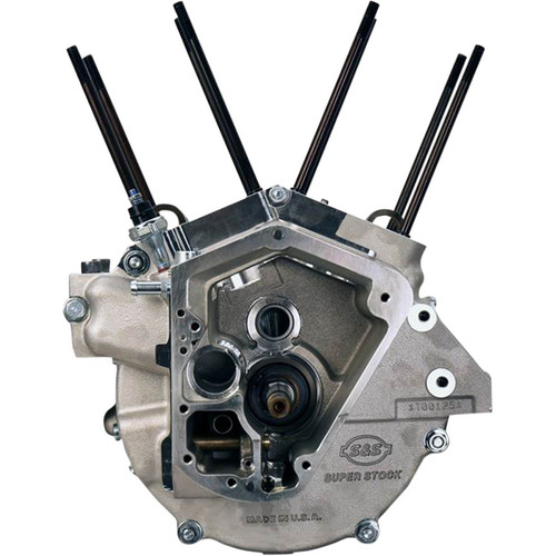 S&S Short Block Assembly for 1992-1999 Harley Evolution Big Twin - Natural