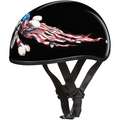 Daytona DOT Skull Helmet - Patriot