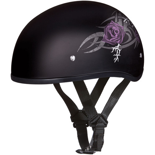 Daytona DOT Skull Helmet - Purple Rose