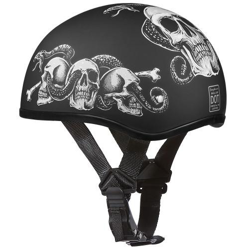 Daytona DOT Skull Helmet - Snake Skulls