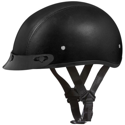 Daytona DOT Skull Helmet w/ Visor - Leather