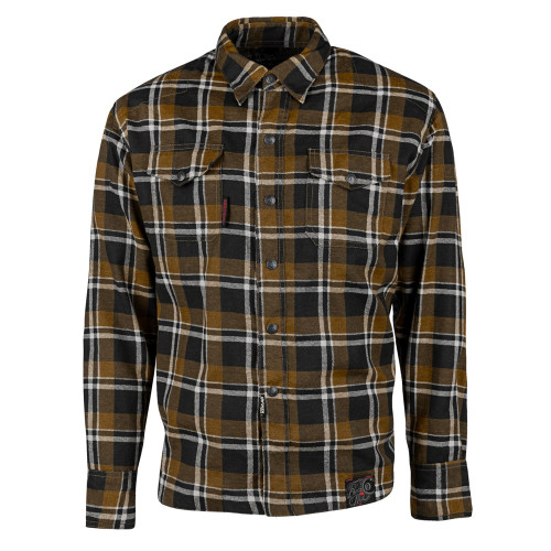 Speed and Strength Black Nine Reinforced Moto Flannel Shirt - Brown/Black