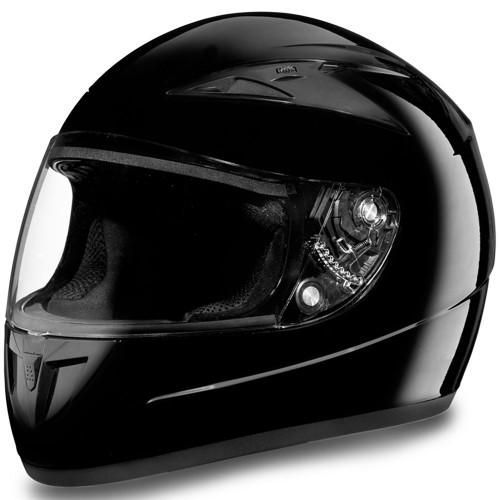 Daytona DOT Shadow Helmet - Gloss Black
