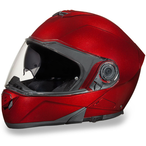 Daytona DOT Glide Modular Helmet - Black Cherry Metallic