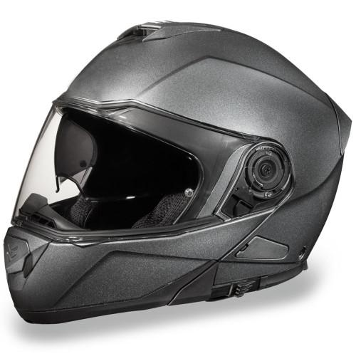 Daytona DOT Glide Modular Helmet - Gun Metal Grey Metallic
