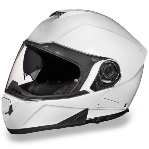 Daytona DOT Glide Modular Helmet - Gloss White
