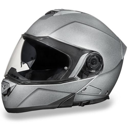 Daytona DOT Glide Modular Helmet - Silver Metallic