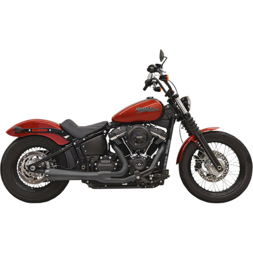 Bassani Road Rage 2-Into-1 Exhaust for 2018-2020 Harley FXBB/FXLR/FLSL/FXFB - Black