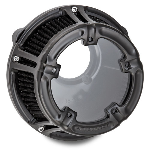Arlen Ness Method Clear Series Air Cleaner for Harley Twin Cam Electronic Throttle - Black