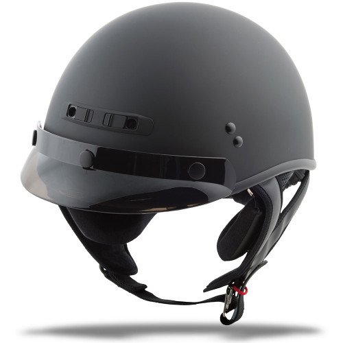 GMAX GM35 Solid Full Dressed Half Helmet - Matte Black