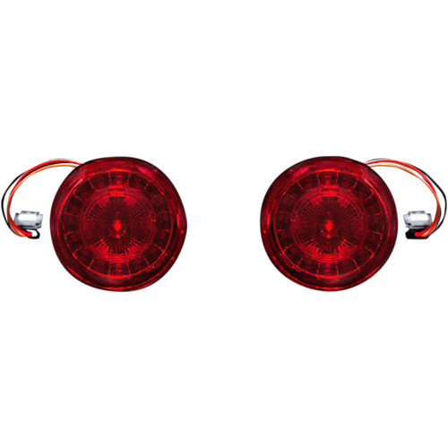 Custom Dynamics Probeam JAE Red LED Turn Signals with Red Lens for Harley