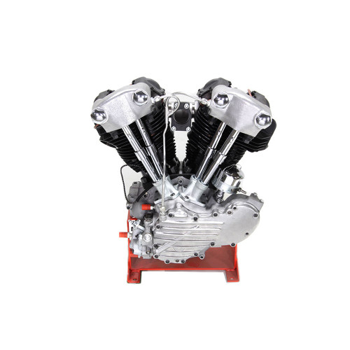 """V-Twin Replica Knucklehead 74"""" Long Block Engine - Finned Style"""