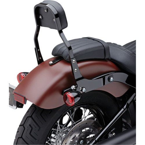 Cobra Detachable Backrest Kit w/ Square Pad for 2018 Harley Softail - Black