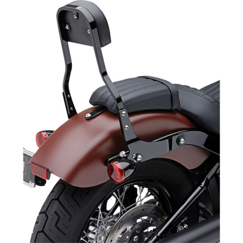 "Cobra Detachable 14"" Backrest Kit w/ Square Pad for 2018 Harley Softail - Black"