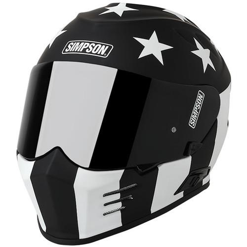 Simpson Ghost Bandit Helmet - Monochrome