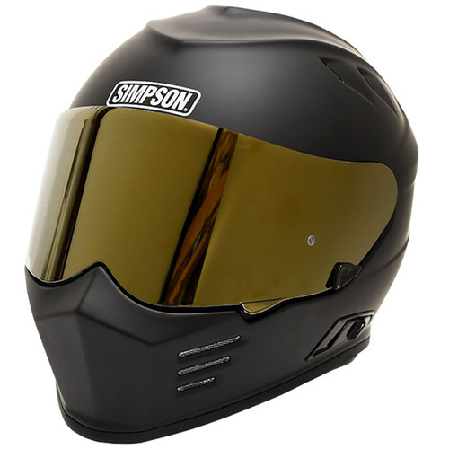Simpson Ghost Bandit Face Shield - Gold Mirror