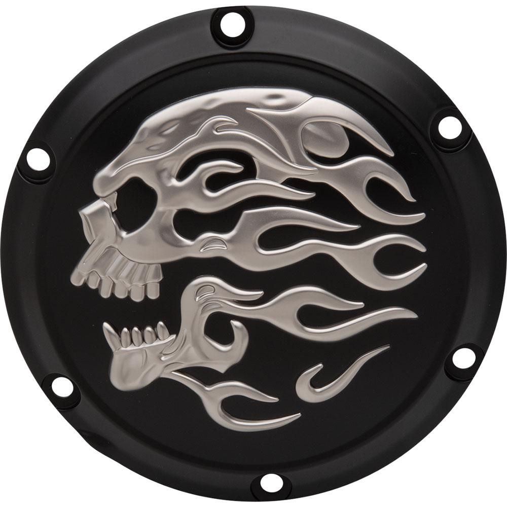 Drag Specialties Chrome 3D Skull Points Cover for 1971-2003 Harley Sportster