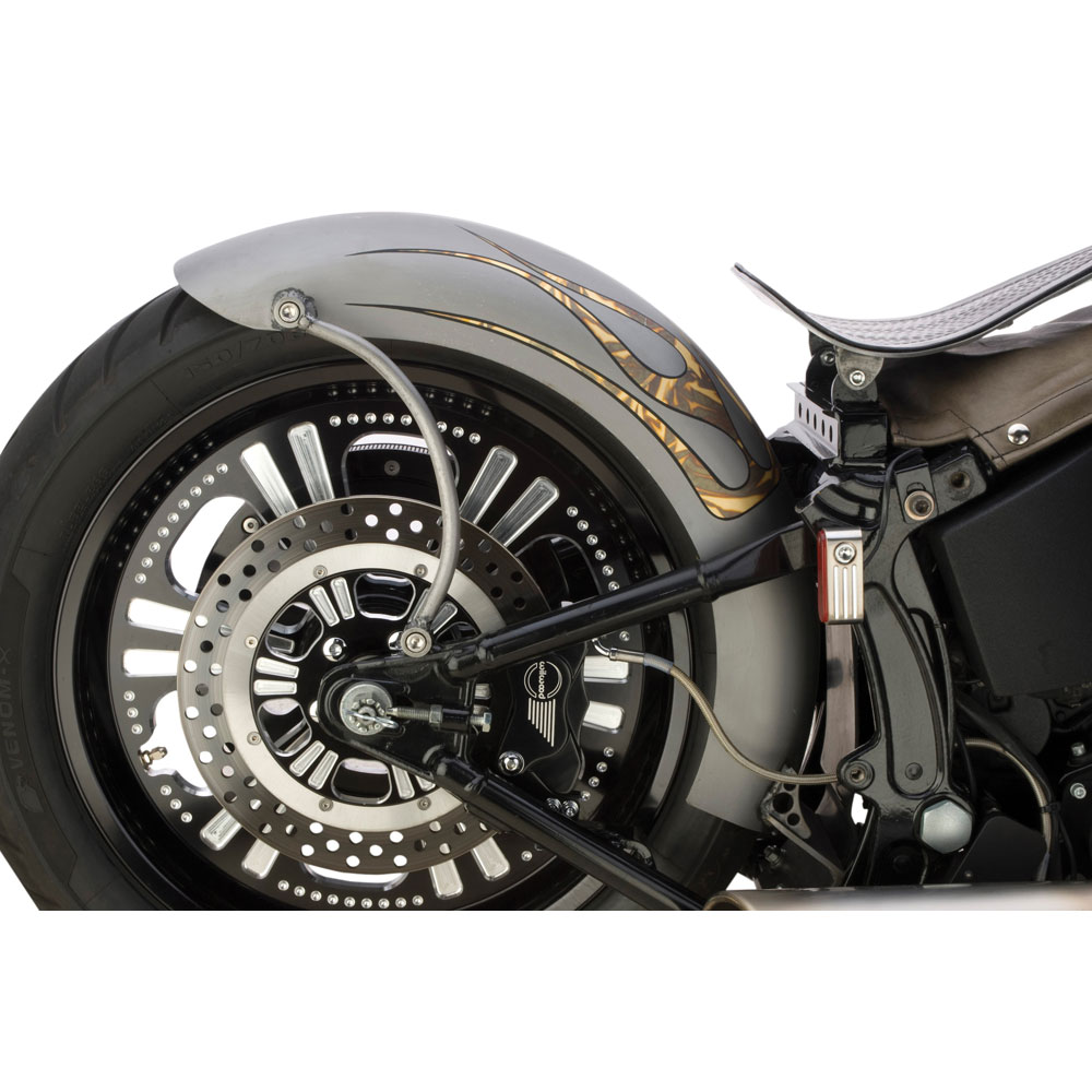 Custom Chrome Rigid Style Lucky Sucker Rear Fender For Harley