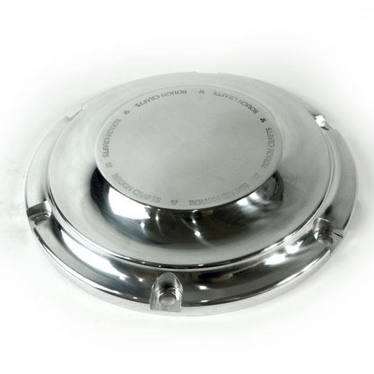 Rough Crafts Polished Clutch Derby Cover For 04 Up Harley Sportster