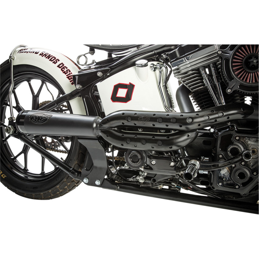 Roland Sands Track 2-Into-1 Exhaust System for 1986-2017 Harley Softail