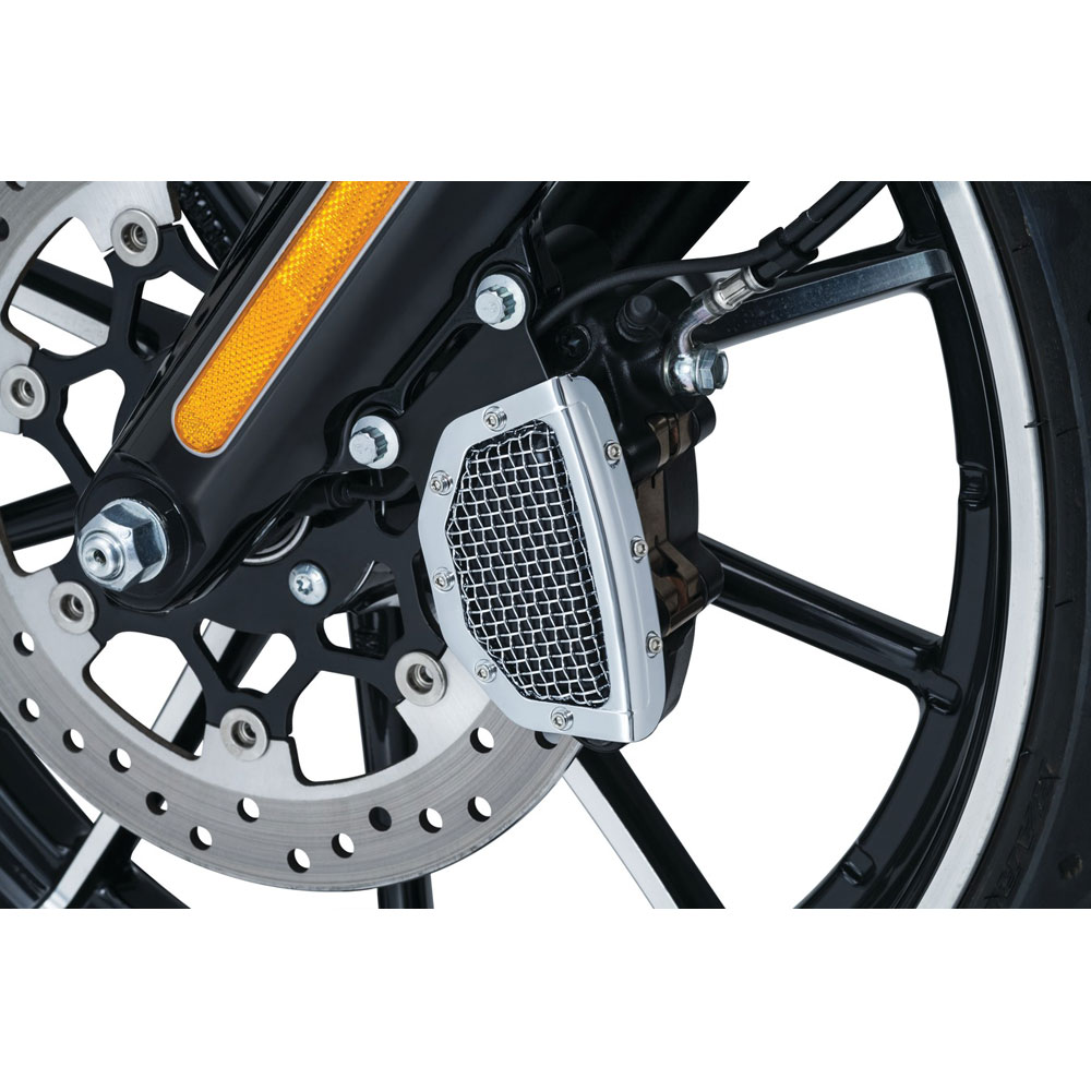 Kuryakyn Mesh Front Brake Caliper Cover for 2015-2017 Harley Softail