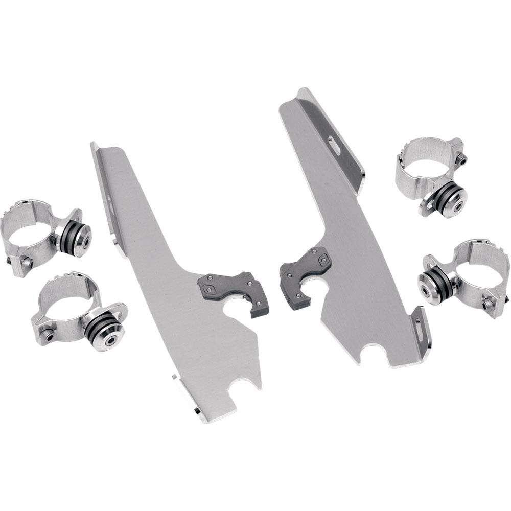 MEK1809 Memphis Shades Batwing Fairing Trigger-Lock Plates-Only Polished