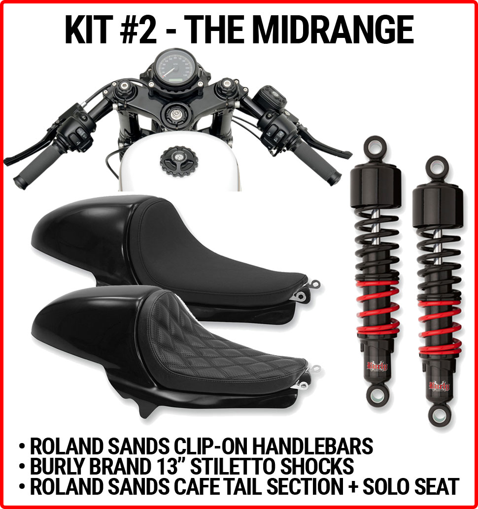 Harley Cafe Sportster Starter Kits - Get Lowered Cycles