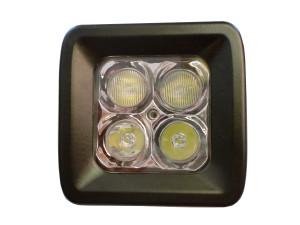 20 Watt LED Light Pair with Harness(Cree)E2,Flood Pattern