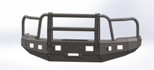 BUMPER WITH FULL GRILL GUARD FOR CHEVY 2011-2014, 2500-3500