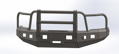 BUMPER WITH FULL GRILL GUARD FOR DODGE 2010-2017, 2500-3500