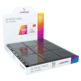 Pages: 18-Pocket Gamegenic Black Pages (50 count)