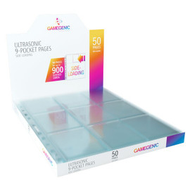 Pages: 9-Pocket Gamegenic Clear Pages (50 count)