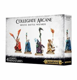 Age of Sigmar: Cities of Sigmar: Collegiate Arcane Mystic Battle Wizards - Product Packaging