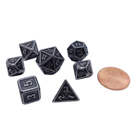 This tiny die set comes with its own glass jar, perfect for taking them wherever you go.