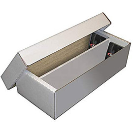 Cardboard Box: 1600 Count 2-Row Card Storage Box (shoebox)