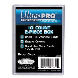Card Supplies: Plastic 10 count 2 piece Box