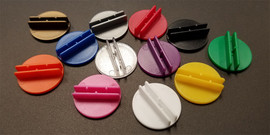 Components: 12 Card Stands: Round