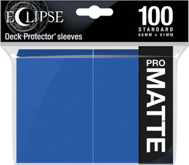Eclipse Matte Standard Sleeves: Pacific Blue (100)