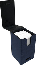 Deck Box: Alcove Tower: Suede Collection- Sapphire