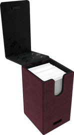 Deck Box: Alcove Tower: Suede Collection- Ruby