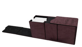 Deck Box: Alcove Vault: Suede Collection: Ruby