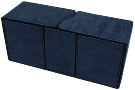 Deck Box: Alcove Vault: Suede Collection: Sapphire