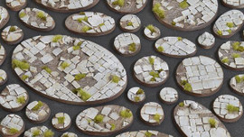 Battle Ready Bases: Temple: Round 40mm (5 Bases)