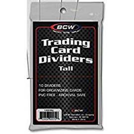 Card Dividers: White Tall BCW (10 count)