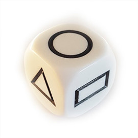 Educational: Shapes - White with Black Paint