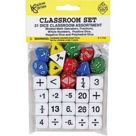 Educational: Fraction Dice (6 count polyhedral)